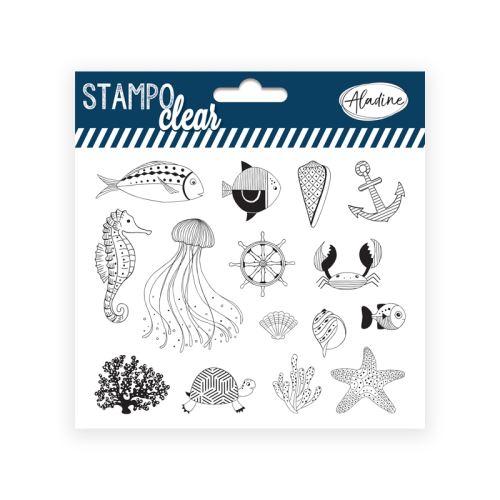 Gelová razítka Stampo CLEAR - Mořský svět 1