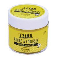 Embosovací prášek, 25 ml - mimosa, žlutá