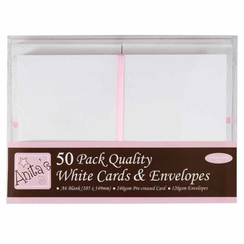 Základy přání a obálky A6, 50ks (240g/m2) - bílé