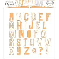 Aladine šablona, 15x15 cm - abeceda