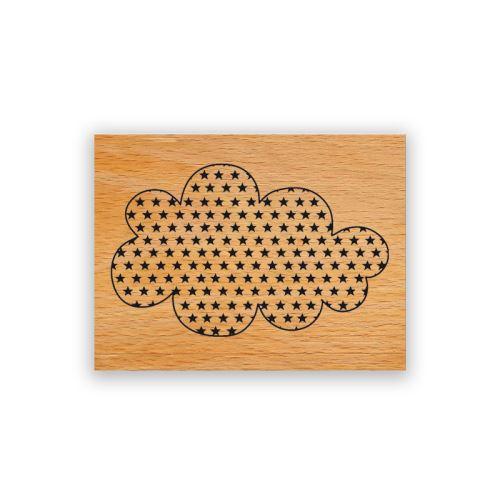 Dřevěné razítko - Obláček 1