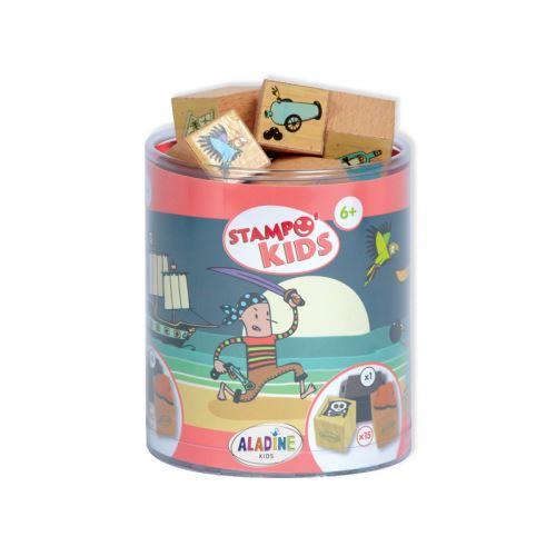 Dětská dřevěná razítka Stampo KIDS - Piráti 1