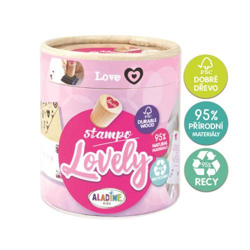 Dřevěná razítka Stampo LOVELY - Love 1
