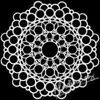 """Šablona 6""""x6"""" (15,2 x 15,2 cm), Orb Mandala"""