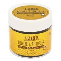 Embosovací prášek, 25 ml - gold extra fine, zlatá, detailní