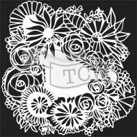 "Šablona TCW 6""x6"" (15,24 x 15,24 cm), Floral Statement"