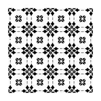 "Šablona 6""x6"" (15,2 x 15,2 cm), Circle Tiles"