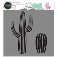 Aladine šablona, 28x28cm - kaktus