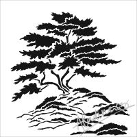 "Šablona 12""x12"" (30,5 x 30,5 cm), Cypress Tree"