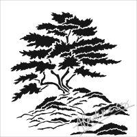 "Šablona 6""x6"" (15,2 x 15,2 cm), Cypress Tree"