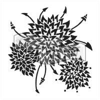 """Šablona 12""""x12"""" (30,5 x 30,5 cm), Dahlia Trio"""
