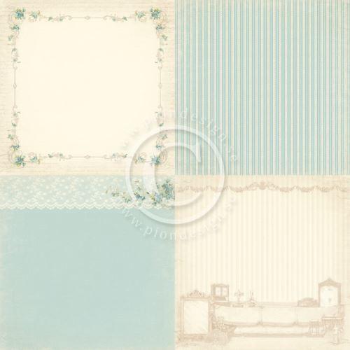 Scrapbookový papír - 4 motivy - 6