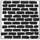 """Šablona 12""""x12"""" (30,5 x 30,5 cm) - velká zeď, Bricks"""