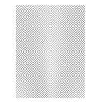 Rýžový papír A3 - metalické kosočtverce - stříbrné