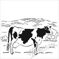 """Šablona 6""""x6"""" (15,2 x 15,2 cm), Bessie"""