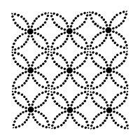 """Šablona 12""""x12"""" (30,5 x 30,5 cm), Dotted Rings"""