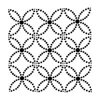 """Šablona 6""""x6"""" (15,2 x 15,2 cm), Dotted Rings"""