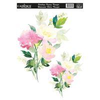 Nažehlovací nálepka,25x35 cm, akvarelová - luční kytice