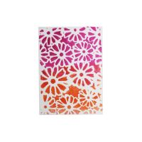 Gelli plate, šablona Flower