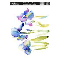 Nažehlovací nálepka,25x35 cm, akvarelová - květy