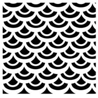 """Šablona 6""""x6"""" , Fish Scales, mini"""