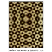 Transferový obrázek na textil - zlaté kosočtverce