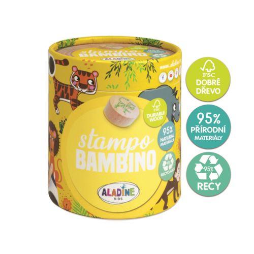 Dřevěná dětská razítka Stampo BAMBINO - Safari 1