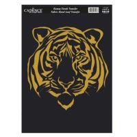 Zlatá nažehlovací nálepka, 21x30 cm - tygr