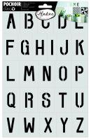 Šablona, abeceda 1, 20x30cm