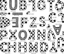 Razítka s příběhem StampoMinos, Česko-slovenská abeceda