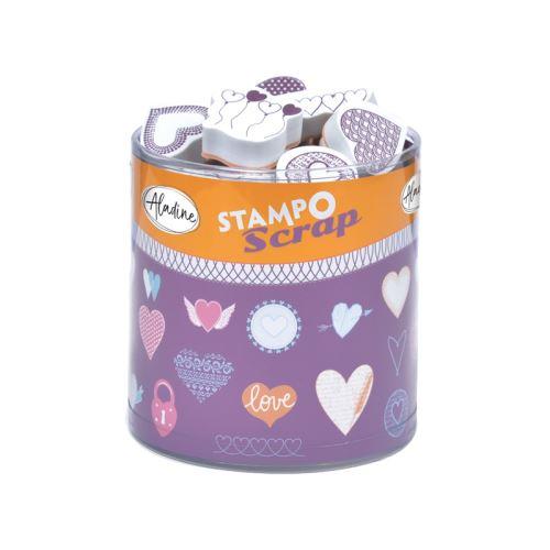 Razítka Stampo Scrap - Srdíčka 1