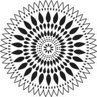 """Šablona 6""""x6"""" - mandala Zinnia, mini"""