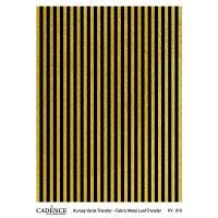 Transferový obrázek na textil -  zlaté pruhy