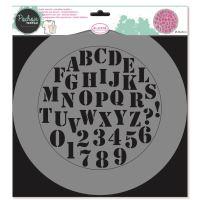 Aladine šablona, 28x28cm - abeceda