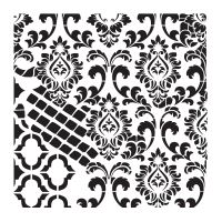 Šablona Cadence, kolekce HomeDeco, 45x45 cm - ornamenty 6