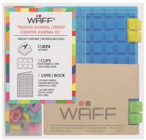 Kreativní deník WAFF, velikost A7, aqua