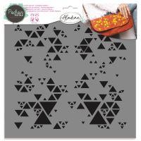 Aladine šablona, 28x28cm - trojúhelníčky