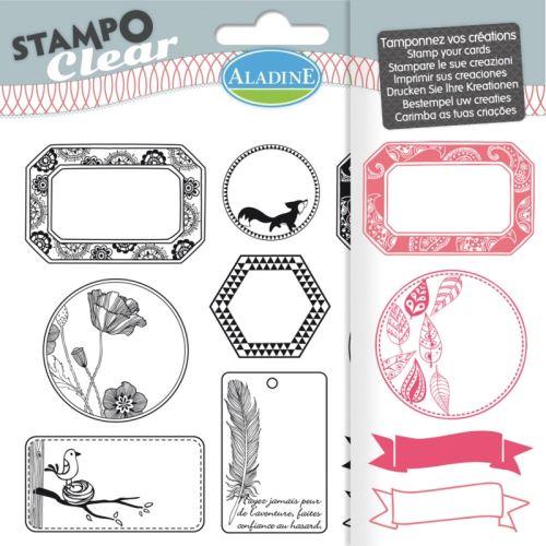 Gelová razítka StampoClear, visačky