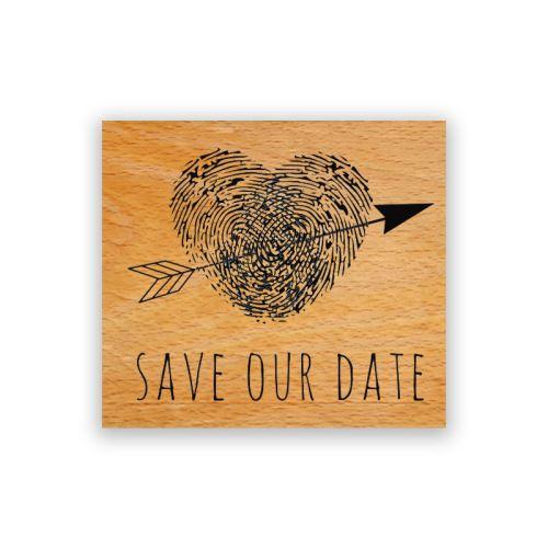 Dřevěné razítko - Zamluvte si náš den 1