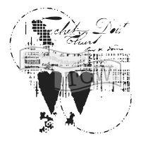 """Šablona 12""""x12"""" (30,5 x 30,5 cm), Two Hearts"""