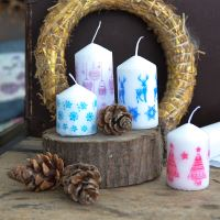 14. Adventní svíčky v kabátku z rýžového papíru