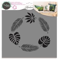 Aladine šablona, 28x28cm - tropické listy
