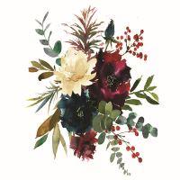 Nažehlovací nálepka, květiny 3 - 25 x 35 cm