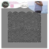 Aladine šablona, 28x28cm - mořské vlny