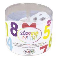 StampoPaint, malovací pěnová razítka - čísla