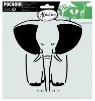 Šablona, slon, 20x20cm