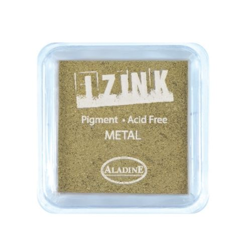 Aladine razítkovací polštářek IZINK - metal gold, zlatá