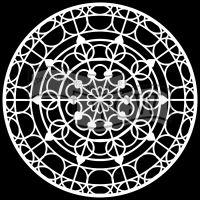 """Šablona TCW 6""""x6"""" (15,24 x 15,24 cm), Mandala Skylight"""