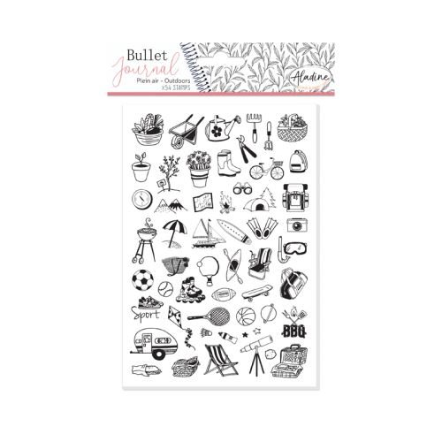 Diářová razítka Aladine Stampo BULLET JOURNAL - Venku 1