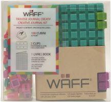 Kreativní deník WAFF, velikost A7, glitter malachite